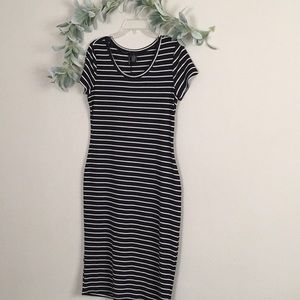 Striped midi dress L